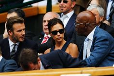 Pin for Later: What Tennis Match? It's All About the Celebrities at Wimbledon  David and Victoria Beckham chatted with Samuel L. Jackson.