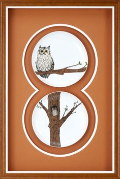 Check out these fame owl prints with amazing mat designs!