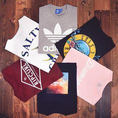The lineup for back to school tees.