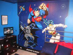 Super Hero Themed Murals | Mural Magic