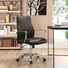 Depict Mid Back Aluminum Office Chair in Brown