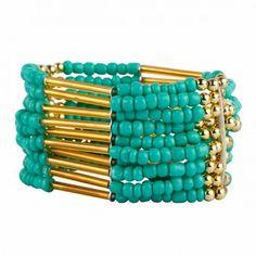 Aaishwarya Green and Golden Funky Wrap Bracelet #bracelet #wrapbracelet #beadbracelet