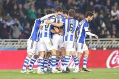 Celebración del gol de la Real Sociedad
