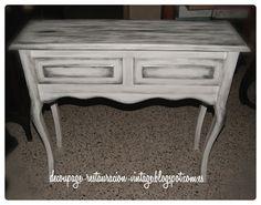 C mo pintar un mueble en blanco envejecido originals ps - Pintar mueble madera en blanco ...