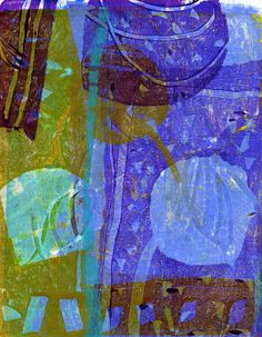 Dorothy Ganek - Gelli Arts Admin - Picasa-Webalben. Love the greens, purples, periwinkle blues
