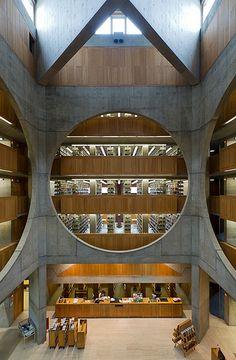 Exeter Library. Atrium. Louis Kahn. Exeter, New Hampshire, 1972
