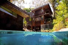 Houses for rent in Silver Lake, 90039, 2 bedrooms, 1 1/2 Bath, $3250 rent, NEUTRA TREETOPS Lower Rear HOUSE - WestsideRentals.com
