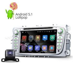 218.80. Cam-Silver New Android Car DVD Player Radio GPS BT for Ford Focus Mondeo S-Max I (  Screen Size - 7in., 7, Unit Size - 2 DIN, Bundle Listing - YES, Operation System - Andriod Lollipop 5.1.1, Resolution - 1024x600 WVGA, Mutual Control - Betweend head unit and your smart phone, Steering Wheel Control - Support (CANBUS System), WIFI|3G - Support(3G need to buy dongle extra), CPU - RK3188  1.6GHz Cortex A9 Quad-Core, Bluetooth - Support hands free,MP3 player,Phonebook,OBD2, DAB-