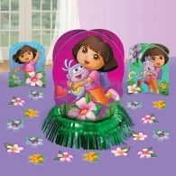 Set the table for good times! Our Dora the Explorer Flower Adventure Table Decorating Kit adds a dash of excitement to your table! This kit features 3 fun centerpieces. The two smaller Dora centerpieces stand inches in height, and the larger center Birthday Party Tables, Birthday Balloons, Birthday Gifts, Party Kit, Baby Party, Paper Centerpieces, Table Decorations, Centrepieces, Disney Balloons