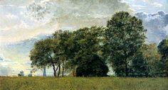 Christen Købke - Village derrière des arbres -1833