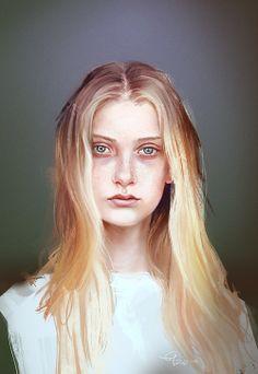 Study from a photo of Nastya Kusakina, by Jurij Treskow. For progress gif, go to eilidh.tumblr.com