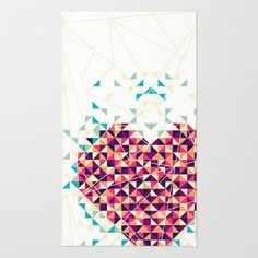 A heart is made of bits and pieces Area & Throw Rug by VessDSign - $28.00