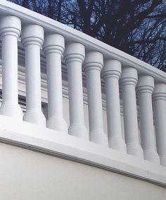 Balcony Grill Design, Balcony Railing Design, Precast Concrete, Concrete Blocks, Classic House Exterior, Outdoor Stone, Diy Molding, Building Materials, House Design