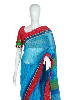 Designer Blockprinted Saree – Desically Ethnic