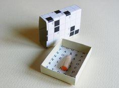 Puzzle matchbox art Miniature pencil