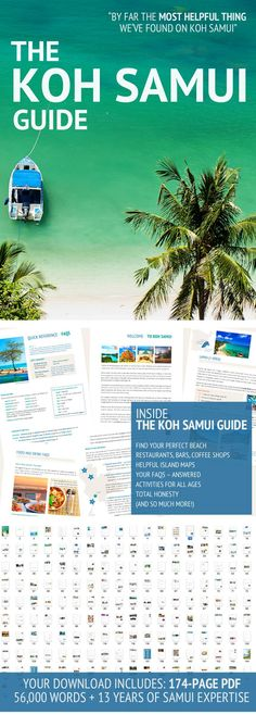 "The Koh Samui Guide: ""The most helpful thing we've found on Koh Samui"" – Travel guide with 13 years' island expertise: Everything you need to know, see, eat + do on Samui"
