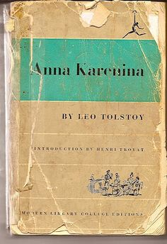 A vintage bit of Tolstoy - Anna Karenina   (this one must have a finer aroma than the version on my iPad)