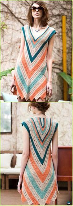 Crochet Seaside Dress Paid Pattern - Crochet Women Dress Patterns #CrochetIdeas