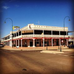 The Great Western Hotel in Cobar, New South Wales built in 1898. It has Australia's longest pub verandah at 100m long!
