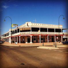 The Great Western Hotel in Cobar, New South Wales built in 1898. It has Australia's longest pub verandah at 100m long!