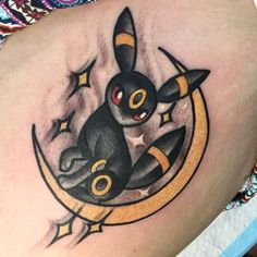 One from yesterday! Thank you Tina !!!  #pokemontattoo #umbreon