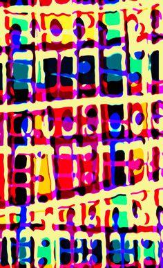 Mad colour mix - press print and digital pattern - Sarah Bagshaw