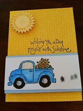 Stampin Up Loads Of Love Truck Card Kit Flowers Country Sunshine Summer