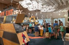 The INVENTory activity space on Level 4 of Queensland Museum uses themes from Museum collections and exhibitions and shows that recycled and sustainable materials offer a huge range of possibilities to imagine and invent with unexpected results.