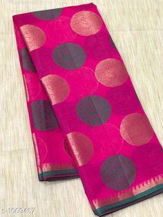 Sarees Stylish Banarasi Cotton Silk Zari Work Saree  *Fabric* Saree - Banarasi Cotton Silk.  *Size* Saree Length - 5.50 Mtr.  *Work* Zari Work  *Sizes Available* Free Size *   Catalog Rating: ★4.1 (1679)  Catalog Name: Vanya Zari Woven Banarasi Cotton Silk Sarees CatalogID_121281 C74-SC1004 Code: 717-1009457-