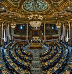 House of Representatives, Iowa Capitol Building, DesMoines, Iowa, USA