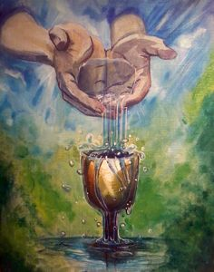 You prepare a table before me in the presence of my enemies. You anoint my head with oil; my cup overflows. Psalm 23:5