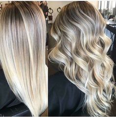 Balayage Hair Color Ideas for Short Hair – Stylish Hairstyles Brown Hair With Blonde Highlights, Ash Blonde, Platinum Blonde, Bright Blonde, Color Highlights, Hair Highlights, Chunky Highlights, Caramel Blonde, Caramel Highlights
