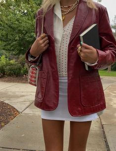 Trendy Outfits, Fall Outfits, Cute Outfits, Fashion Outfits, Blazer Fashion, Mode Ootd, Smart Casual Outfit, Grunge Style, Mode Inspiration