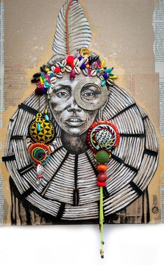 French artist portraying the world Art Black Love, Black Girl Art, Art Pulp, Modern Art, Contemporary Art, Art Afro, Ethno Design, Art Du Monde, African Paintings