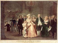 After Charles Benazech, La Séparation de Louis XVI de sa famille