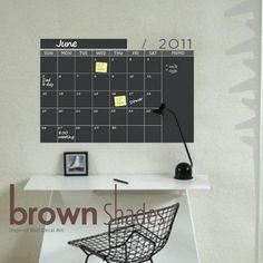 calendar chalkboard wall decal