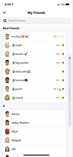 Snapchat Names List, Noms Snapchat, Snapchat Friend Emojis, Snapchat Users, Instagram And Snapchat, Snap Emojis, Name List, Find Friends, Phone Organization