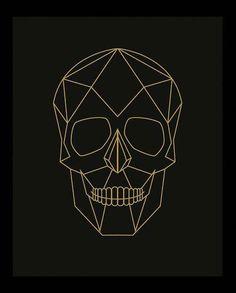 Geometric Skull Skull Print Skull Poster Geometric by Woofworld - - Geometric Drawing, Geometric Art, Geometric Skull Wallpaper, Geometric Poster, Skull Illustration, Skull Artwork, Tape Art, Skull Print, Skull Logo