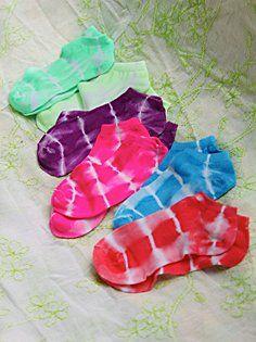 Tie Dye Anklet 6-Pack in Leggings-Socks