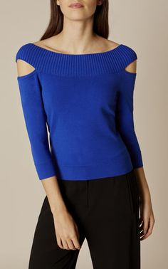 SHOULDER-DETAIL JUMPER | Karen Millen