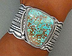 Bracelet Sterling Silver Kingman Turquoise D. CADMAN (Image1)