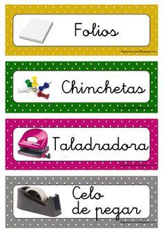 Classroom Labels, Classroom Organization, Classroom Decor, Classroom Management, Colegio Ideas, Ludo, Dora, Konmari, Learning Spanish