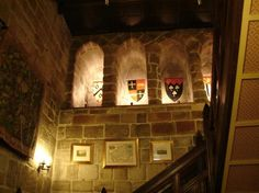 Langley Castle Hotel: Main Stairs