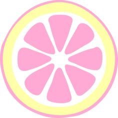 Pink Lemon Slice clip art - vector clip art online, royalty free & public domain - Yellow and pink -