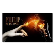 Electric, Electrician, Electricity Business Card