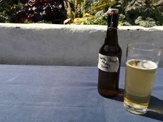 home brew nettle beer in the sun