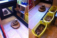 bouwhoek van juf Evy - Lespakket Block Center, Too Cool For School, Autumn Theme, Sensory Play, Dog Bowls, Classroom, Education, Cool Stuff, Projects