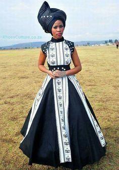 Umbaco (Xhosa traditional dress) #LatestAfricanWear #ModernAfricanFashions