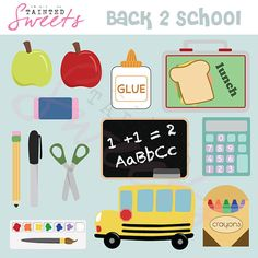 Back 2 School by danger0usangel03 on Etsy, $5.00 #school #backtoschool #clipart #teachers #printables #classroom