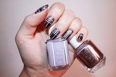 Diamant sur l'ongle 〣Tartan Nails sur mes ongles